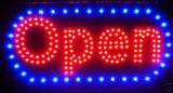 LED Neon Light Open Sign With Animation On/off and Power On/Off two Switchs for Business By