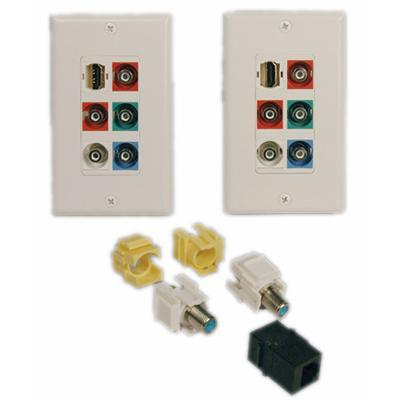 HDTV Wall Plate Kit - wall mount plate