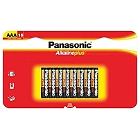 Panasonic General Purpose Battery - Aaa - Alkaline - 16 Pack Lr03pa/16bh