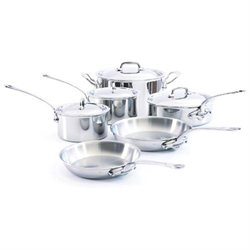 Mauviel Cookware M'Cook 10 Piece Stainless Steel Cookware Set