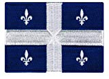 Quebec Flag Embroidered Patch French Canadian Province Iron-On Canada National Emblem