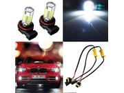2pcs Hid White H11 H8 Cree High Power Led Bulbs Fog Lights   Decoders Error Free