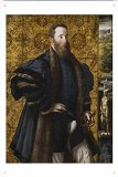 Artwork Oil Paint of Parmigianino - Pedro Maria Rossi, or Roscio, Count of San Segundo, Ca. 1534 on Tin Sign by Masterpiece Collection (20*30cm)