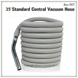35ft Standard Central Vacuum Hose With Button lock