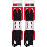 JobSite Ultra Strength Braid Round Boot & Shoe Laces - Multiple Color Options - Shoe Strings for Boots, Shoes, Hiking, Work, Construction, Factory, Sport, Athletic, Arts & Crafts and Everyday Use - 60 inch - Black - 2 Pair Pack