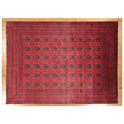 FREE PAD With Veg Dyed 8' 0'' X 10' 11'' Traditional Hand Knotted Khan Mohammadi Oriental Rug H3922