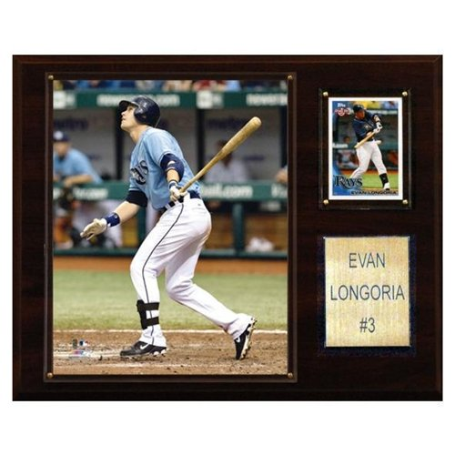 C & I Collectables 1215LONGOR MLB Evan Longoria Tampa Bay Rays Player Plaque