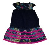 Genuine Kids Made By Oshkosh Toddler Girls Flowered Berlin Wash Dress (3T)