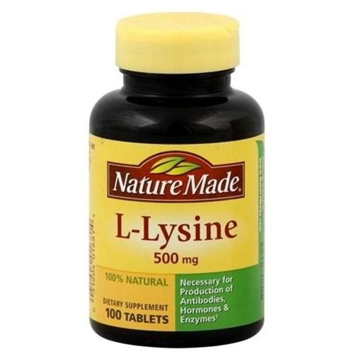 Nature Made L-Lysine 500 mg, 100 tablets
