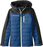 Free Country Big Boys' Hybrid Winter Coat, Electric Blue/Lead, Small (8)