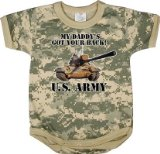 67056 Infant Army Digital Camo ''got Your Back'' One Piece Bodysuit (3-6 Months)