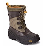 The North Face Alpenglow IV Boot, Burnt Olive Green/Arrowwood Yellow, 13 M US Boys