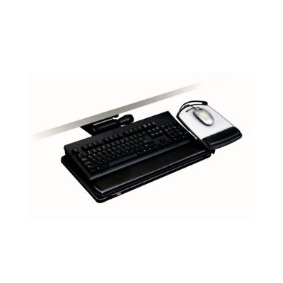 3m Akt150le Adjustable Keyboard Tray  Easy Adjust Arm  11.7 In X 24.4 In X 7.2 In 23in Track  Adjustable Platform