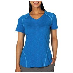 ExOfficio Women's EXO Javatech V Neck Short Sleeve Shirt