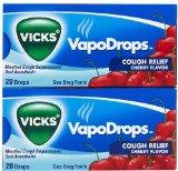 Vicks Cough Relief VapoDrops-Cherry-20 ct, 2 pk