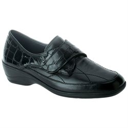 Spring Step Jaye Black Croco - Womens Loafers
