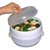 Handy Gourmet 2 Tier Microwave Steamer