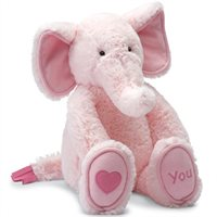 Love You Pink Elly Toy By Jellycat