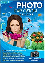P The Nova Photo Explosion Deluxe Version 5 delivers powerful editing features, spectacular special effects and professional quality photo projects all together in one programs
