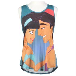 Disney Aladdin Jasminie Girls Tank Top Juniors Shirt