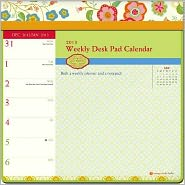 2013 Lily Ashbury Weekly Desk Pad Calendar