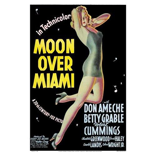 Moon Over Miami Poster Movie B 27 x 40 In - 69cm x 102cm Don Ameche Betty Grable Robert Cummings Carole Landis Charlotte Greenwood Jack Haley