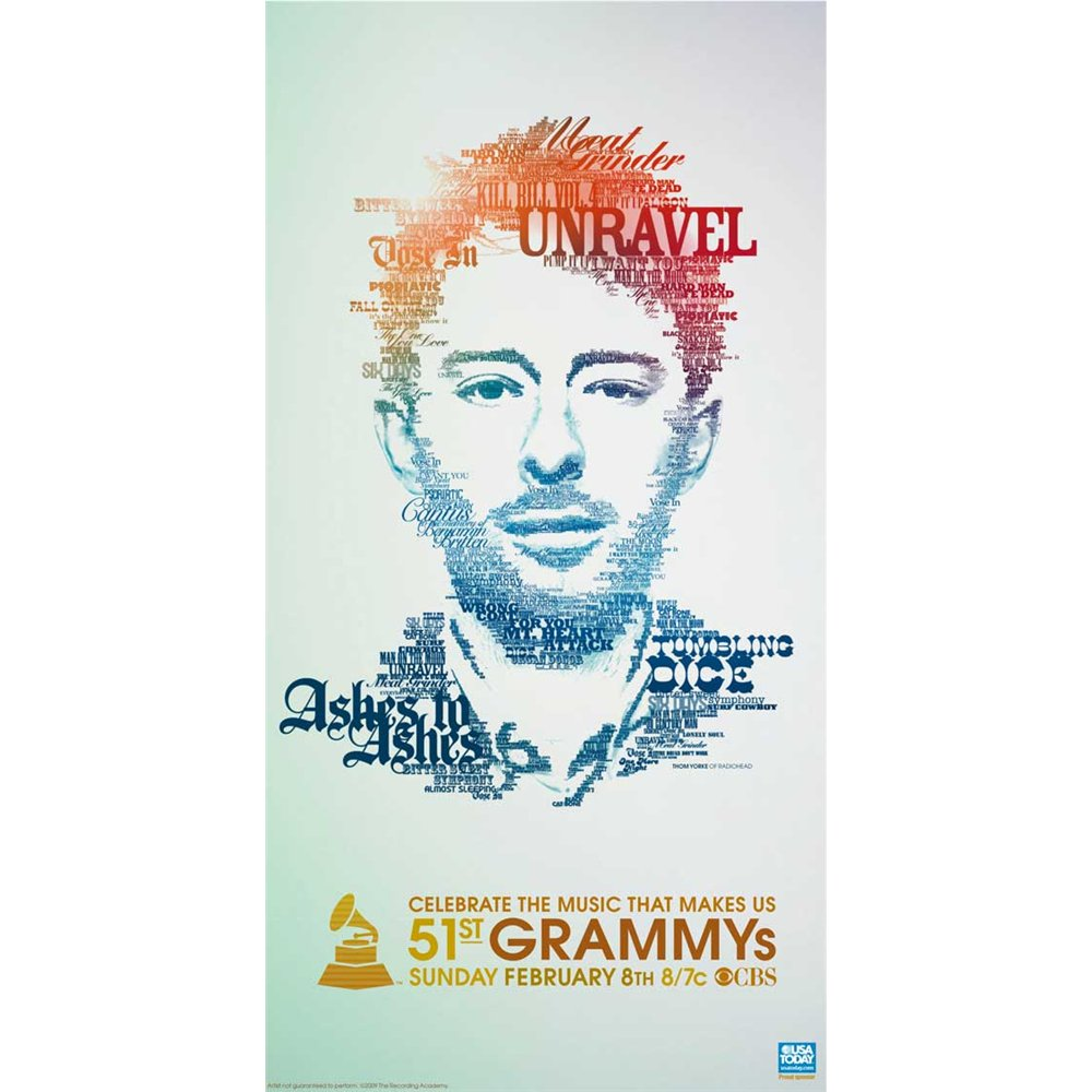 The 51st Annual Grammy Awards (TV) Poster Movie 20 x 40 In - 51cm x 102cm Adele Maya Arulpragasam Gene Autry Simon Baker