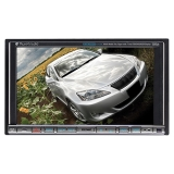 "Planet Audio P9740 Car DVD Player - 7"" Touchscreen LCD Display - 1440 x 234 - 80 W RMS - iPod/iPhone Compatible - In-dash - Double DIN"