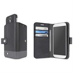 Belkin - Trend Wallet Folio, Galaxy S5, Blacktop/Charcoal. F8M924B1C00