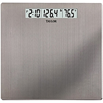 Taylor 7409 Stainless Steel Digital Scale With Time & Temperature - 400 Lb / 180 Kg Maximum Weight Capacity 74094102