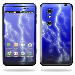 Protective Vinyl Skin Decal Cover for LG Thrill 4G Cell Phone Sticker Skins Lightning Storm
