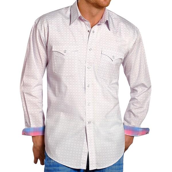 Rough Stock By Panhandle Slim Bergamo Antique Print Shirt - Snap Front, Long Sleeve (for Men)