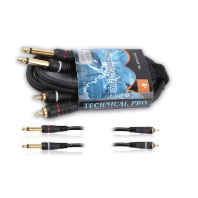 Technical Pro Cdrr186 Dual 1/4 To Dual 1/4 Audio Cables