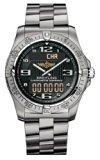Breitling Professional Aerospace Mens Black Titanium Digital-Analog Watch
