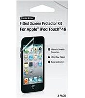 Writeright 9247601 Fitted Screen Protector For Apple Ipod Touch 4th Generation Media Player - 3 Pack
