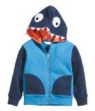 Chic Gal Little Boys' Printed Shark Costume Fleece Hoodie Jacket 5T