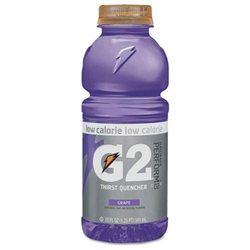 Gatorade G2 Perform 02 Low-Calorie Thirst Quencher, Grape, 20 oz Bottle, 24/Carton
