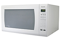 Features  Luxury Full Size 2.2 cubic feet Countertop Microwave Oven with Inverter Technology, 1250 Watts High Power, One Touch Sensor Cooking   Reheat, Multi Lingual Menu Action Screen, Five Button with Flat Panel, White.
