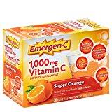 Emergen-C Vitamin C Fizzy Drink Mix Super Orange -- 1000 mg - 30 Packets