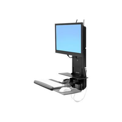 Ergotron 61-080-085 Styleview Sit-stand Vertical Lift  Patient Room - Wall Mount For Lcd Display / Keyboard / Mouse / Barcode Scanner - Black - Screen Size: 24