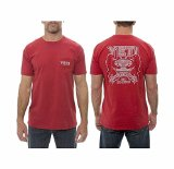 Yeti Coolers Ytscoabrl Coat of Arms Logo T Shirt In Brick Red Large
