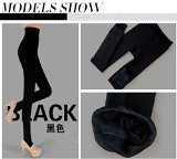 Best1688 Fashion Women Lady Winter Warm Thick Fleece Full Length Seamless Lined Thermal Leggings Tights Pants (Black)