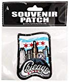 Chicago Skyline Souvenir Patch Featuring the Chicago Flag