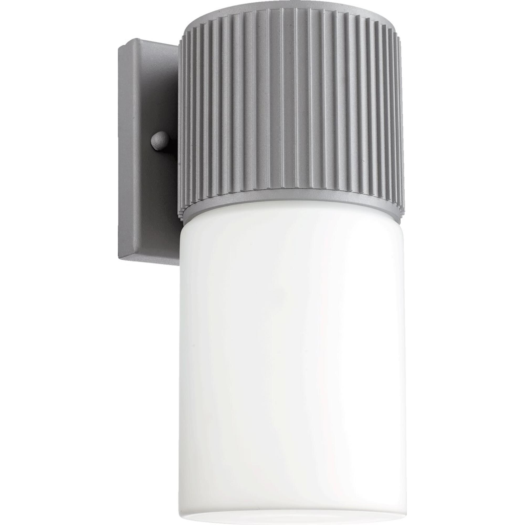 Manhattan 1-Light Wall Sconce Grey by Quorum. Modern Design Perfect for front door, garage door or back door