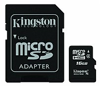 Kingston Sdc4/16gb 16 Gb Microsdhc Flash Card With Sd Adapter - Class 4