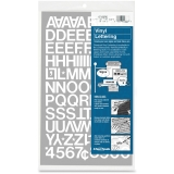 Press-On Vinyl Uppercase Letters/Numbers