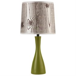 Oscar Boudoir Round Table Lamp in Grass Finish (Circles)