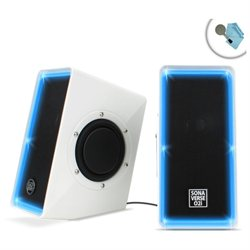 SonaVERSE O2i USB Computer Speaker System with Volume Control , Passive Woofers & Powerful Sound