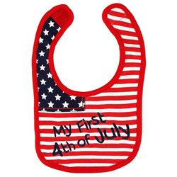 Koala Kids Neutral First 4th of July Bib