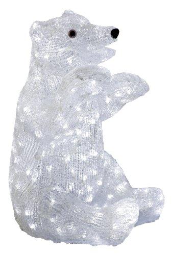 Xepa EHX-OSA3003-WHT  XEPA Commercial Grade LED Illuminated Acrylic Baby Polar Bear Sculpture, White